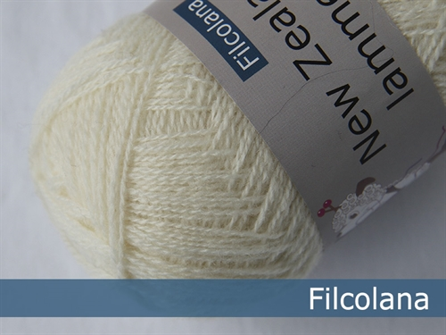 Filcolana New Zealand Lammeuld Naturel White